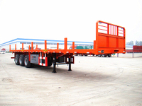 FLAT BED SEMI TRAILER WITH STAKES