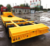 four axles in two lines low bed semi trailer for mechanical equipment