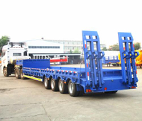 4AXLES 60TONS LOW BED SEMI TRAILER EXPORT TO UZBEKISTAN